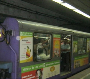 Metro Train Branding in Kolkata