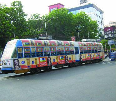 Tram Branding in Kolkata, India