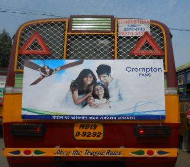 Bus back panel Advertisement in Kolkata